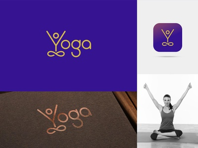 Yoga Day - 2019 monogram clever logo typography pose y logo identity meditation yogaday logo yoga