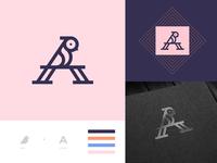 Letter A + Bird Logo