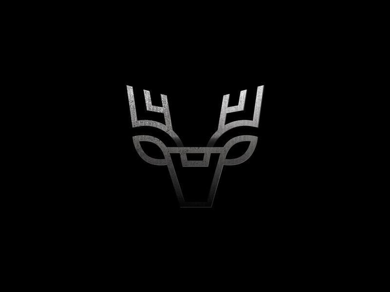 Deer Logo buck stag deer head horn blackandwhite logodesign logomark animal logo animal nature identity logo deer