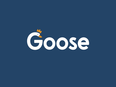 Goose Wordmark typography minimal design water crown clever logo logomark identity bird bird logo goose wordmark logo