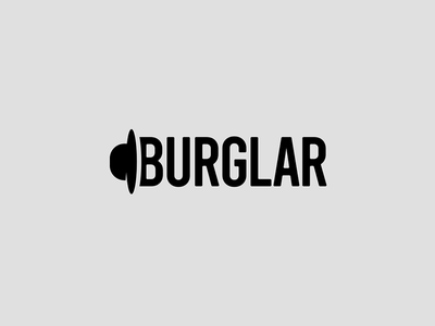 Burglar Wordmark robber theft mask typeface burglary theif burglar hat logomark identity typography wordmark clever logo logo