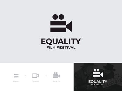 Equality Film Festival Logo logodesign logotype branding typeface logomark cinema movie camera identity equal festival film logo