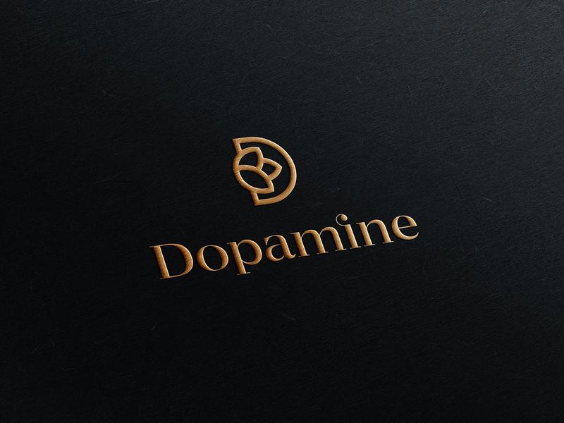 Dopamine Logo logo design logomark mark logodesign joy happiness nature bloom d logo health spa flower identity branding typography logo