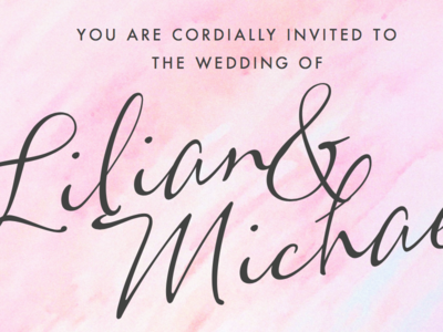 Watercolour Wedding Invite
