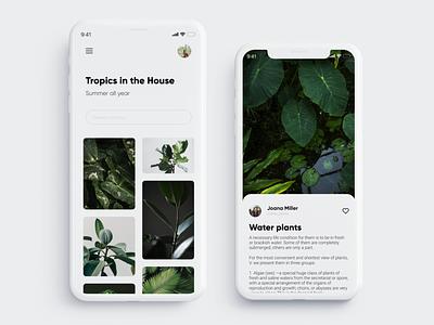 Mobile app for flower growers ui design ui  ux light flower plant ux ui app