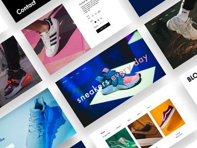 Sneakers shop concept design ux ui sneaker shop ui  ux webdesign cover