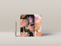 Notebook with floral print