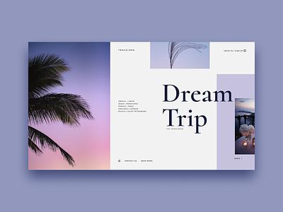 Travel agency violet blog travel minimalism ux webdesign ui ui  ux cover
