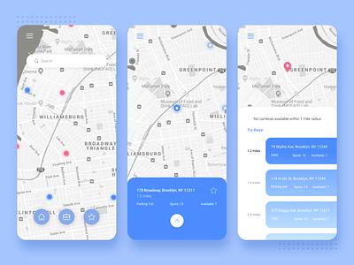 Parking app concept ui  ux design webdesign design app ui  ux ux ui parking