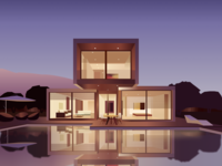Pool house illustration
