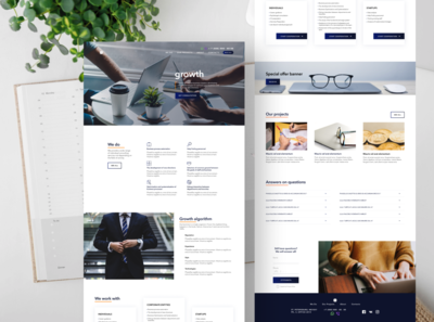 Main page for consulting agency