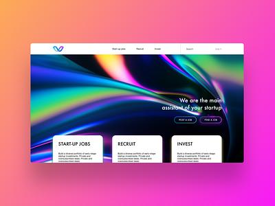 Startup HR landing hr startup ui  ux design webdesign cover ux ui