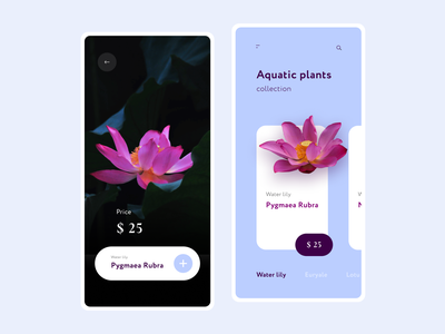 Exclusive store aquatic plants flowers ui  ux design app store plant dark webdesign mobile ui ux ui  ux