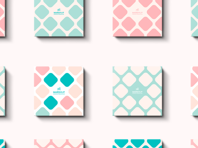 Marsh Up Marshmallows Packing design packaging form style light sweet marshmallows pattern package design logo brand branding