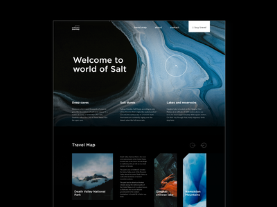 Travel agency landing ux minimalism agency jorney travel landing dark ui  ux design cover ui  ux ui web design