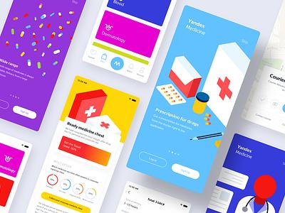 Yandex Medicine delivery app delivery yandex minimalism mobile app drugs ui  ux design illustration delivery app medicine app ux ui ui  ux mobile