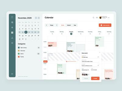 Calendar schedule agile kanban task track figma desktop calendar app week ui ux dashboad shedule calendar