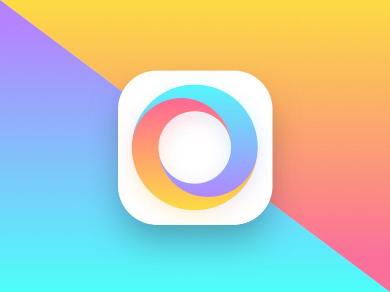 Aconto App icon circle gradient logo color budget icon appstore app