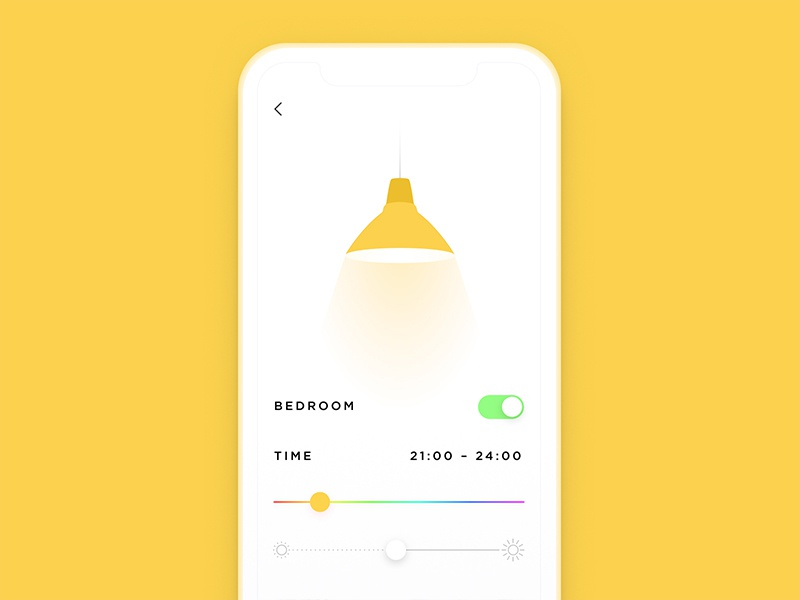Settings yellow app lamp daily ui settings