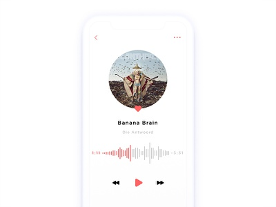 Music player 009 simple clean daily ui music player