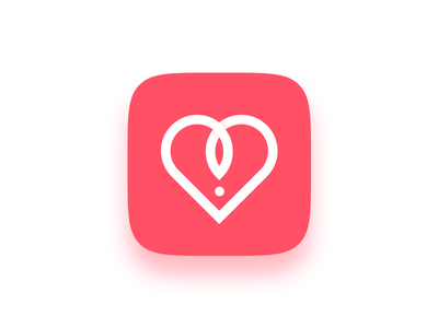 Sex Dating App Icon button logo uidesign mobile simple pink icon app sexy sex ui
