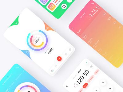 Aconta icons simple ux goal calculator track money app ui