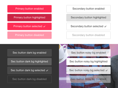 Buttons and their states buttons enabled disabled highlighted primary secondary ios ios 7