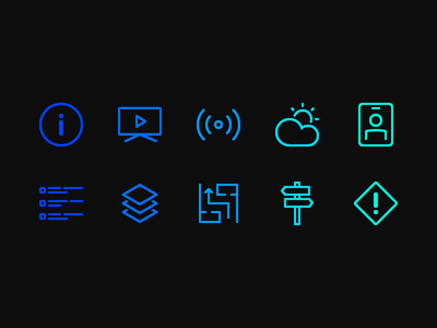 First 10 icons icon set icons
