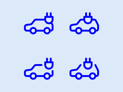 Electric Car car electric icon