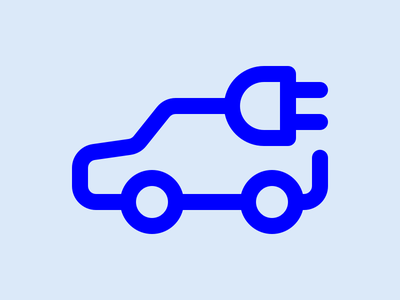 Electric Car icon electric car