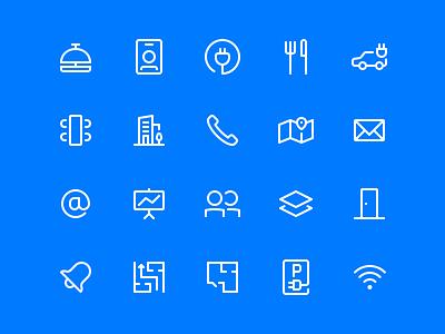 Office App Icon Set grid app office set icon