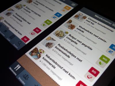 Getting ready for the New iPhone new iphone 5 weekmenu ios ui gui food recipe recipes app