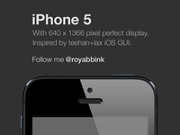 Iphone 5 freebie psd