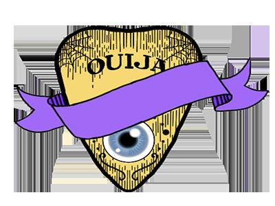 Creepy Ouija Planchette simple lines purple eyeball vector planchette ouija