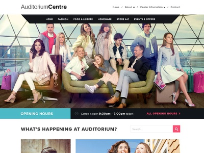 Home Page homepage webdesign proximanova shopping centre design web colour