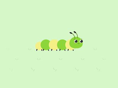 Caterpillar Movement LottieFiles Animation gif motion aftereffect lottieanimation app minimal design mascot character animate flat design lottiefiles vector animation walking movement caterpillar