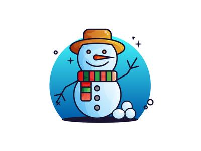 Snowman Gradient Illustration ❄🧣