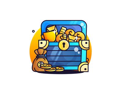 Gold Treasure Chest