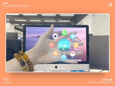 AR_Application List vr system player gesture future design chart augmented ar 3d animation
