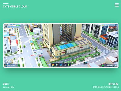 Low visualization panel low scenes architectural c4d motion design parking park dashboard system visualization data chart 3d