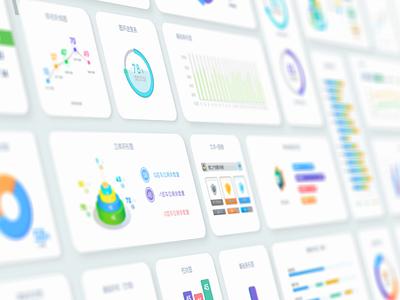 Visual chart - bright version dashboard dataviz product desktop template ui kit cloud big data future visualization data chart