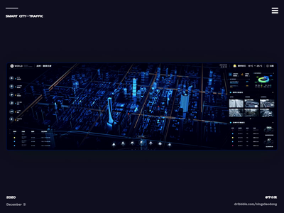 Smart City traffic city traffic animation chart data dashboard visualization 3d