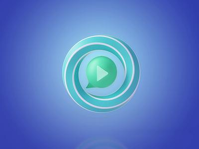 3D icon-Cloud classroom simple design animation vr ar 3d icon