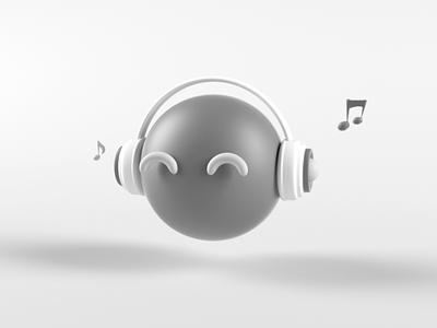 3D icon-Music logo icon 3d ar vr animation design simple