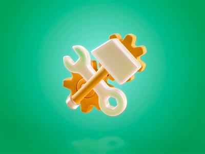 3D icon-Set up set up simple design animation vr ar icon logo 3d