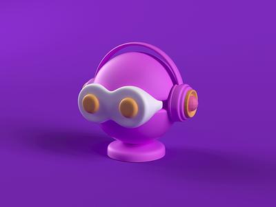 3D icon-AR cinema icon ar vr animation design cinema 3d