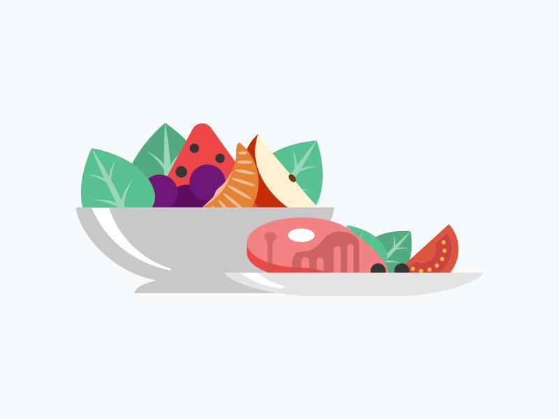 Food bowl inapp illustration foodbowl food