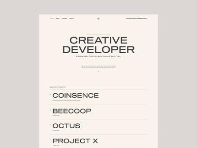 MG - Developer folio screens mobile folio branding motion interaction web website ux ui design