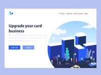 landing page - Upgrade Card