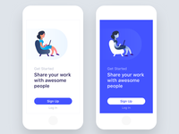 Sharing Work Status - UI Design